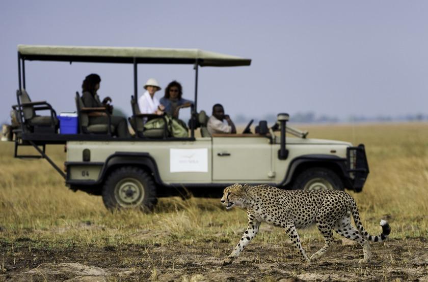 Safari en 4x4 dans le parc Kafue, Zambie