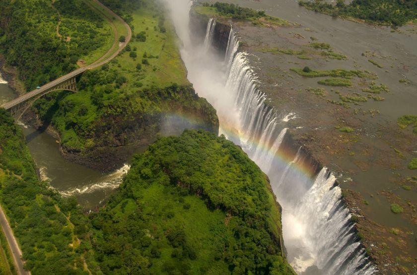 Survol des chutes Victoria, Zimbabwe
