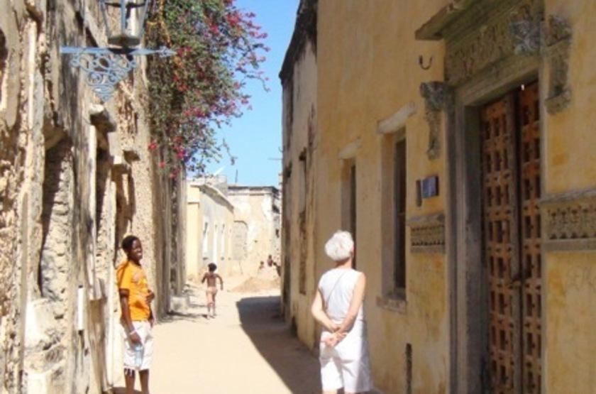 Dans le rue de Ibo Island, Mozambique