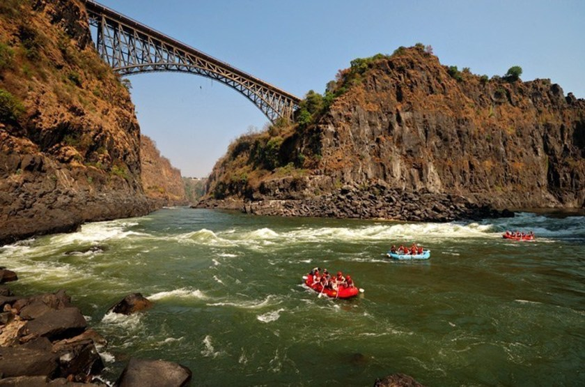 Rafting sur le Zambèze, Victoria Falls, Zimbabwe