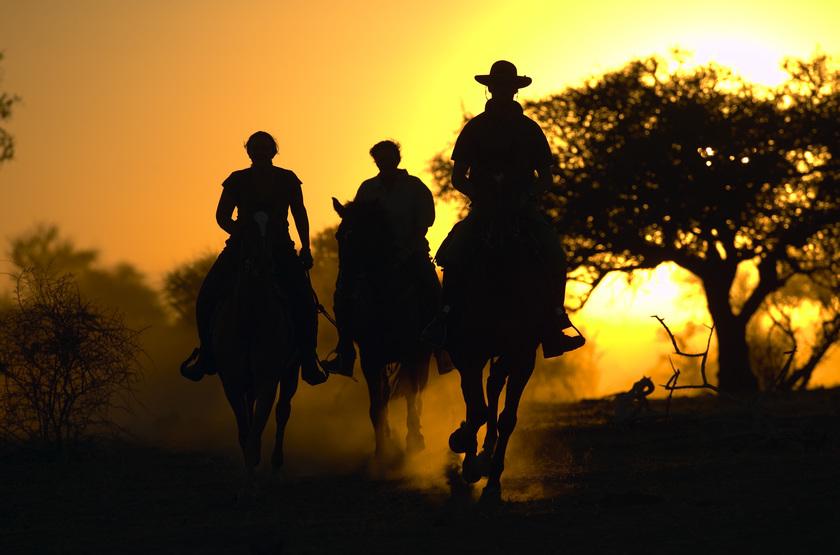Safari à cheval, Okavango, Botswana