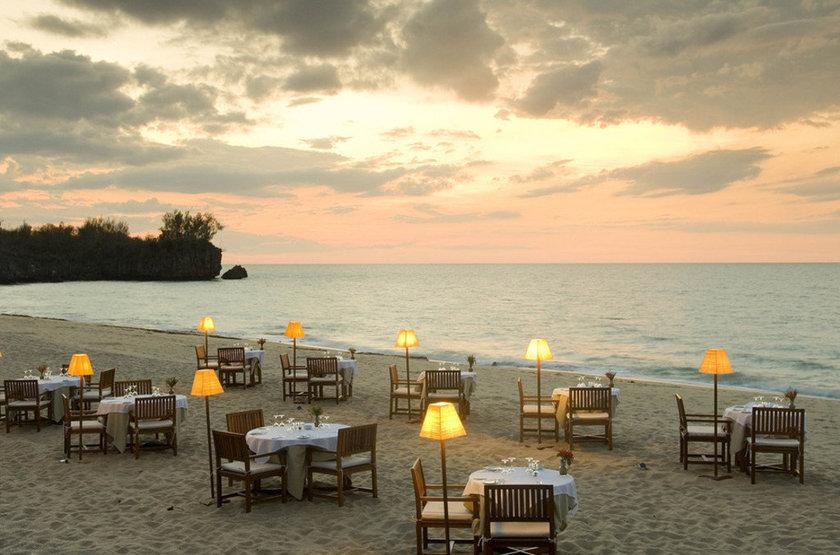Dîner sur la plage d'Anjajavy Hotel, Madagascar