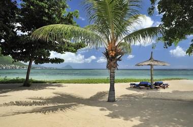 Sur l'une des plus belles plages de l'île Maurice, voyage Océan indien