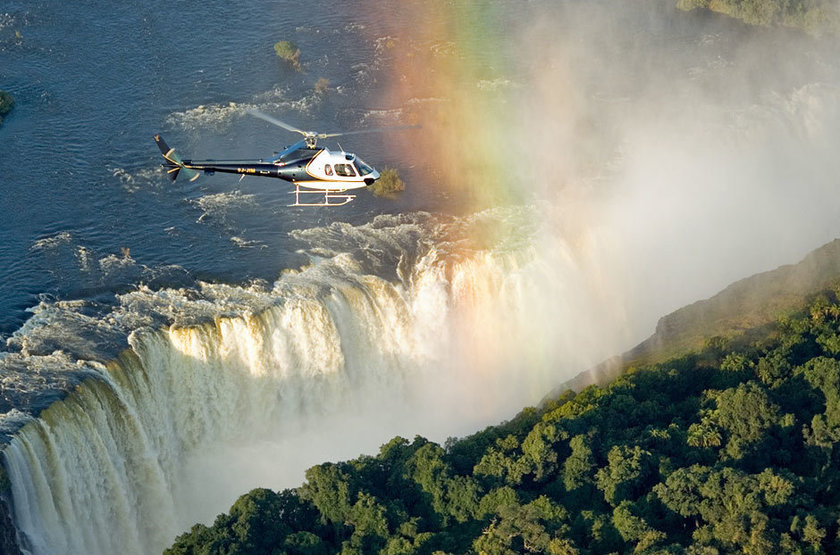 Survol des chutes Victoria en hélicoptère, Zimbabwe
