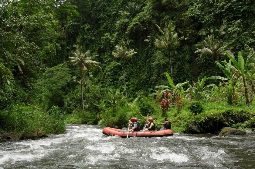 Rafting sur la rivière Ayung, Bali, Indonésie