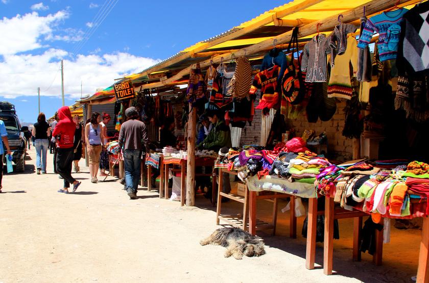 Marché à Colchini, Bolivie