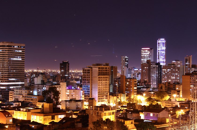 Bogota by night slideshow