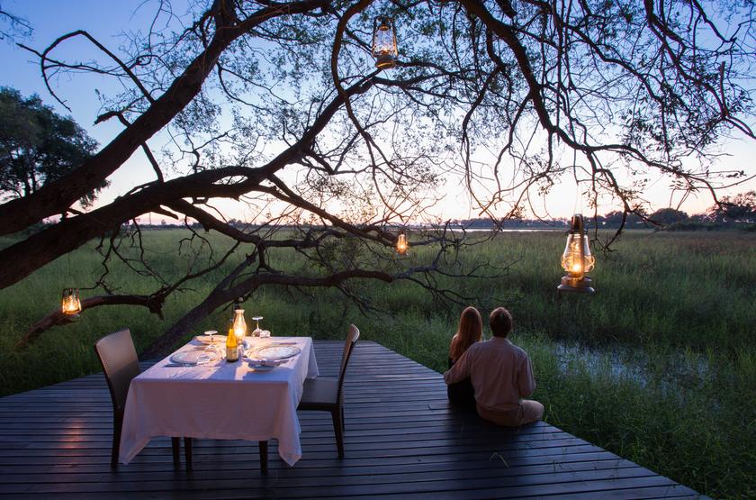 Voyage de Noces à Abu Camp, delta de l'Okavango, Botswana
