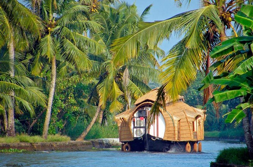 Backwaters, Kerala, circuit en Inde du Sud
