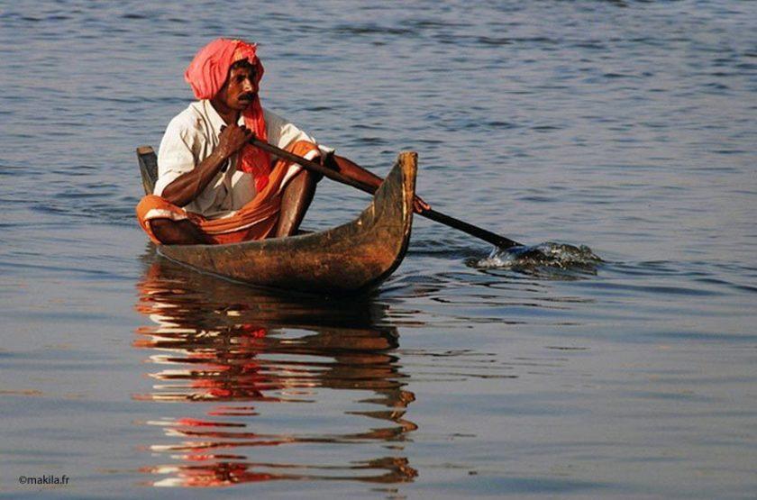 Backwaters, Kerala, Inde du Sud