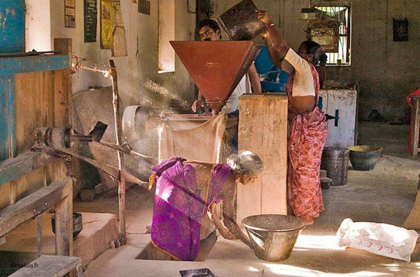 Moulin à riz, Inde