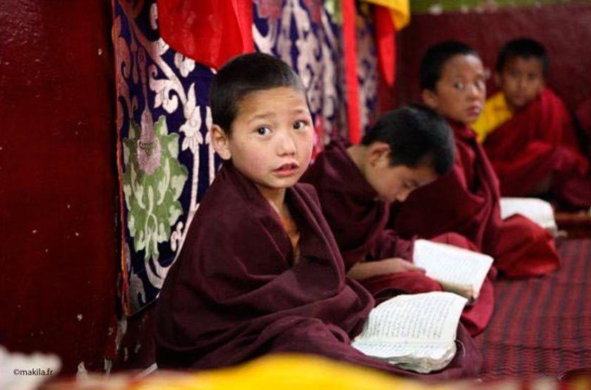 Ecole de moines, Ladakh, Inde