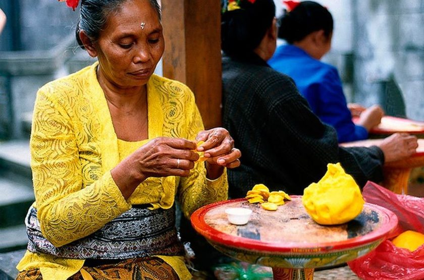Besakih, Bali, Indonésie, offrande