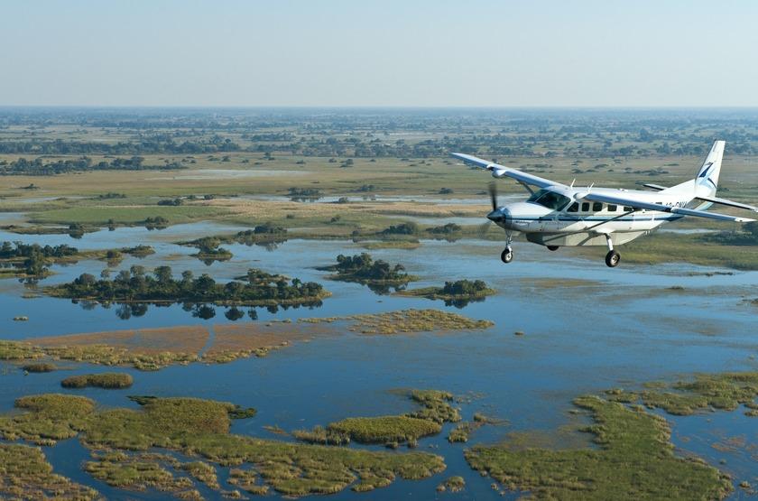 Survol de l'Okavango, Botswana