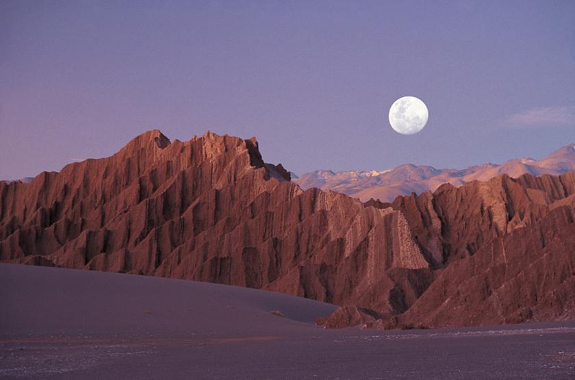 Levée de lune, Atacama