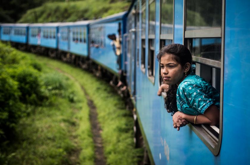 Train à Haputale, Sri Lanka