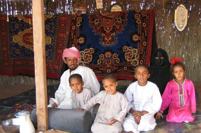 Wahiba, famille de bédoiuns, Oman