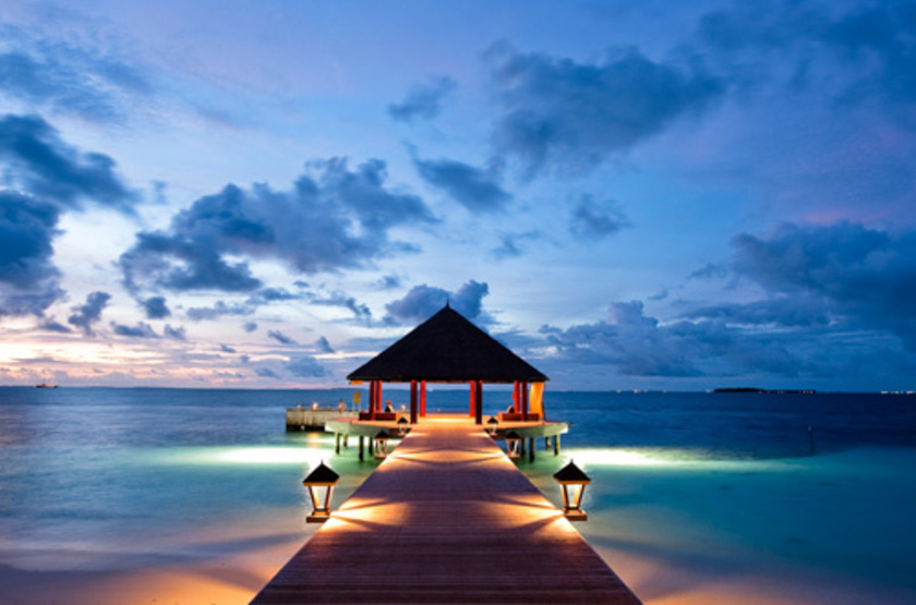 Maldives   angsana ihuru   jetty slideshow
