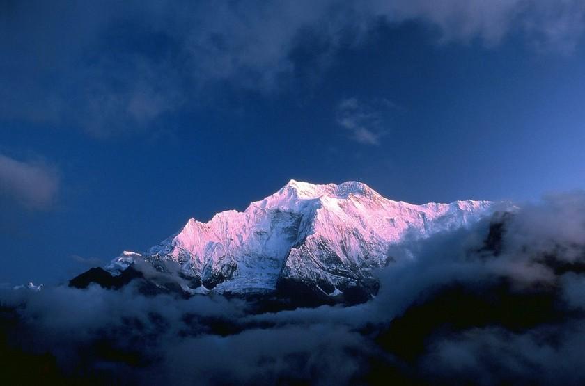 Voyage au Népal, Phokara, vue sur l'Annapurna