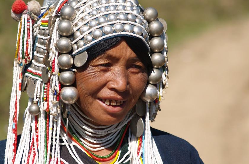 Femme Akha, Birmanie