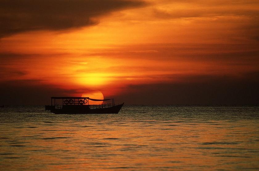 Séjour à Ngapali, Birmanie, sunset
