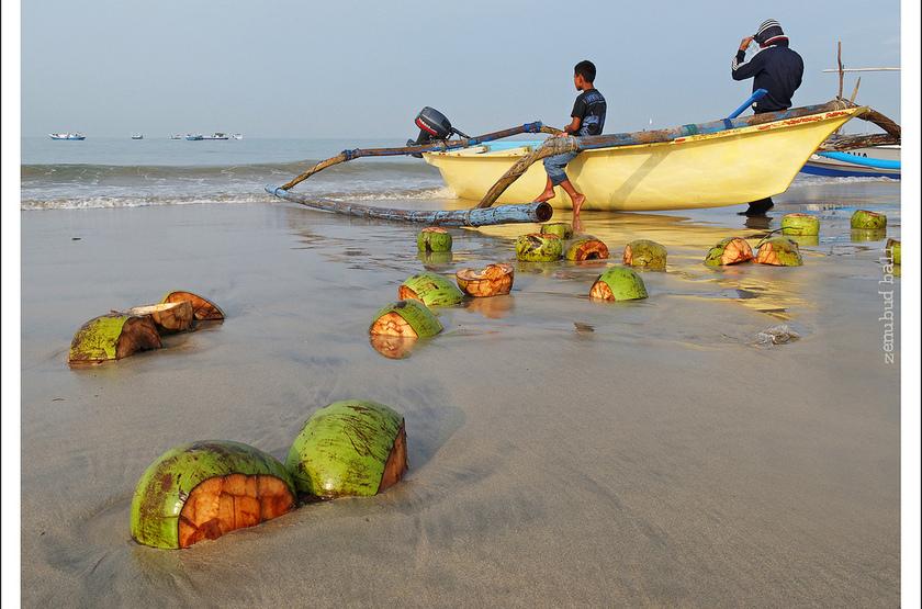 Pêcheurs balinais, Indonésie