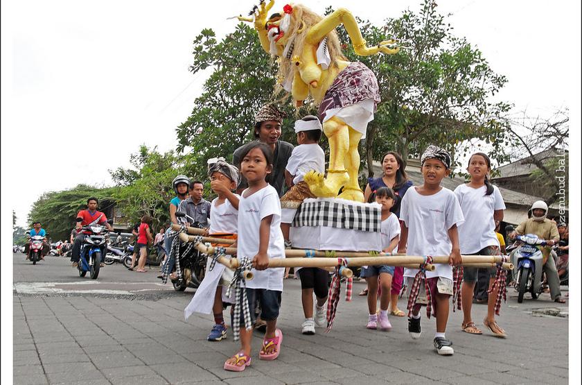 Célébration balinaise, Indonésie