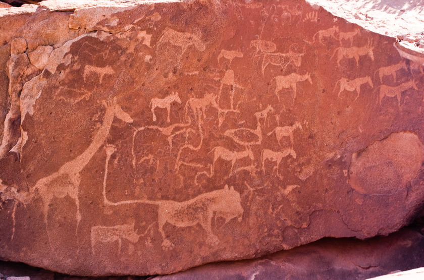 Twyfelfontein, peintures rupestres, Namibie