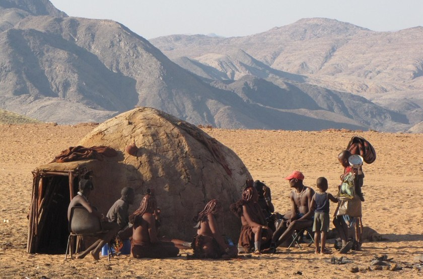 Hutte Himba, Namibie