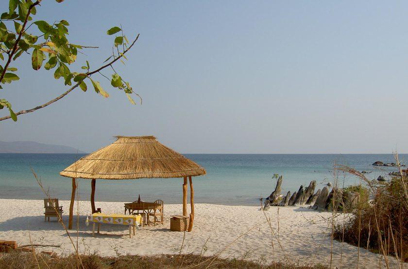 Nkwichi Lodge, plage du Malawi, Mozambique