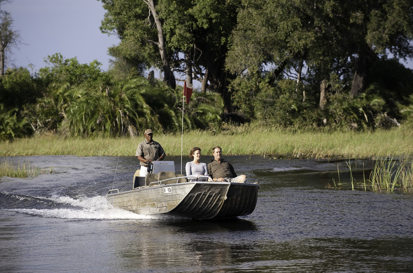 Safari en bateau dans la Moremi, Botswana