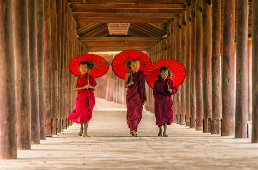 Jeunes novices, Birmanie