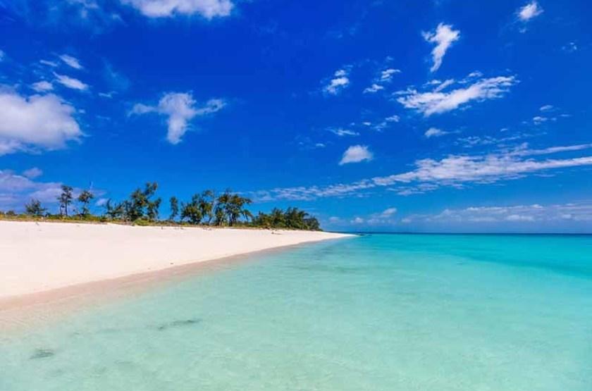 Plage de sable blanc, Mozambique