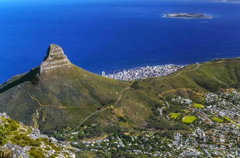 Vue panoramique sur Le Cap, Afrique du Sud