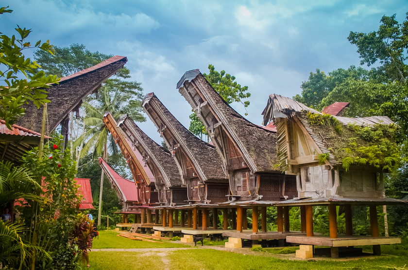 Maisons Toraja, Sulawasi, Indonesie