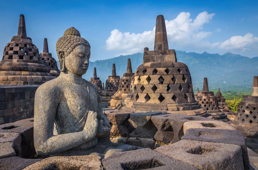 Temple de Borobudur, Java, Indonesie