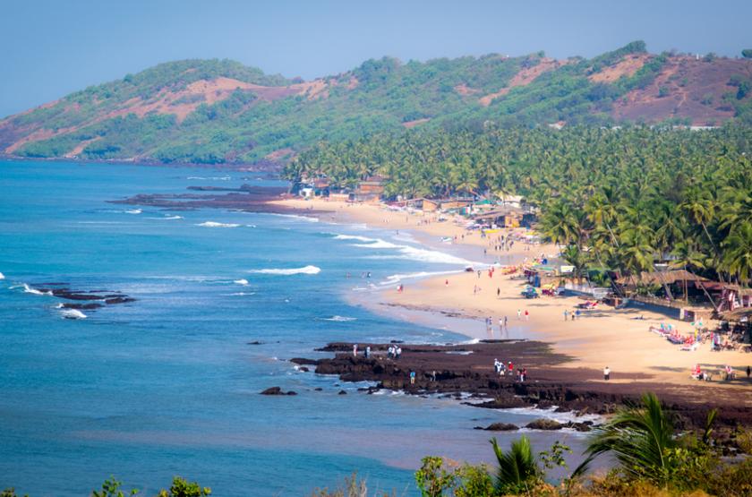 Plage d'Anguna, Goa, Inde