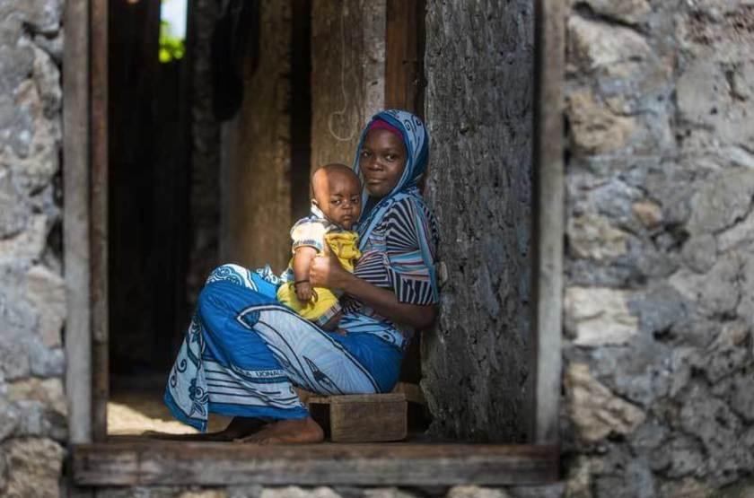 Femme du village de Kilima Juu, Zanzibar