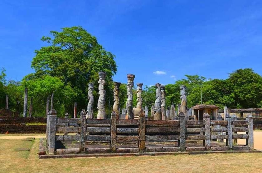 Vatadage de l'ancienne ville de Polonnaruwa, Sri Lanka