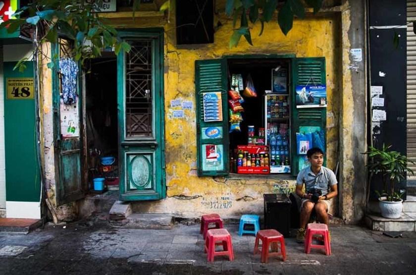 Vendeur de rue à Hanoï, Vietnam