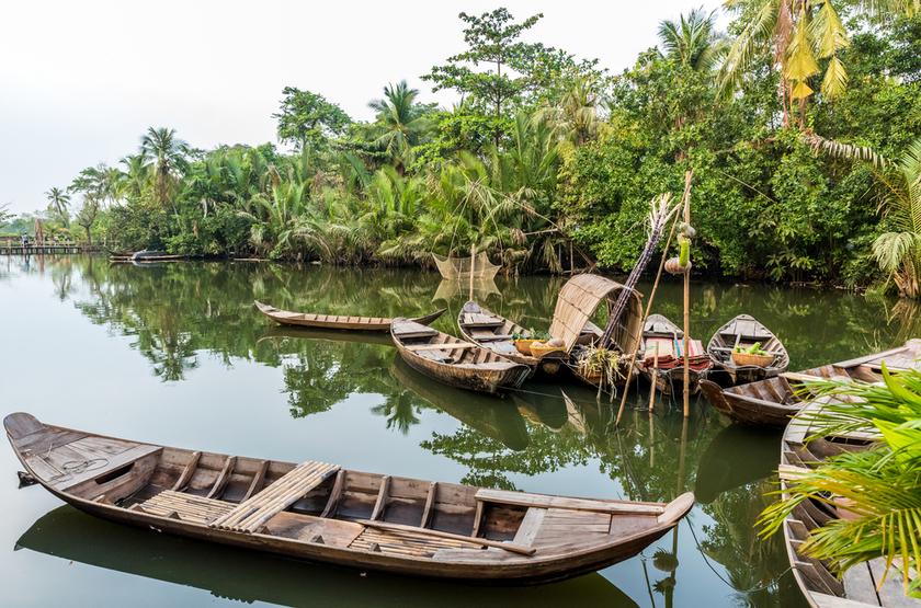 sur le delta du Mékong, Vietnam