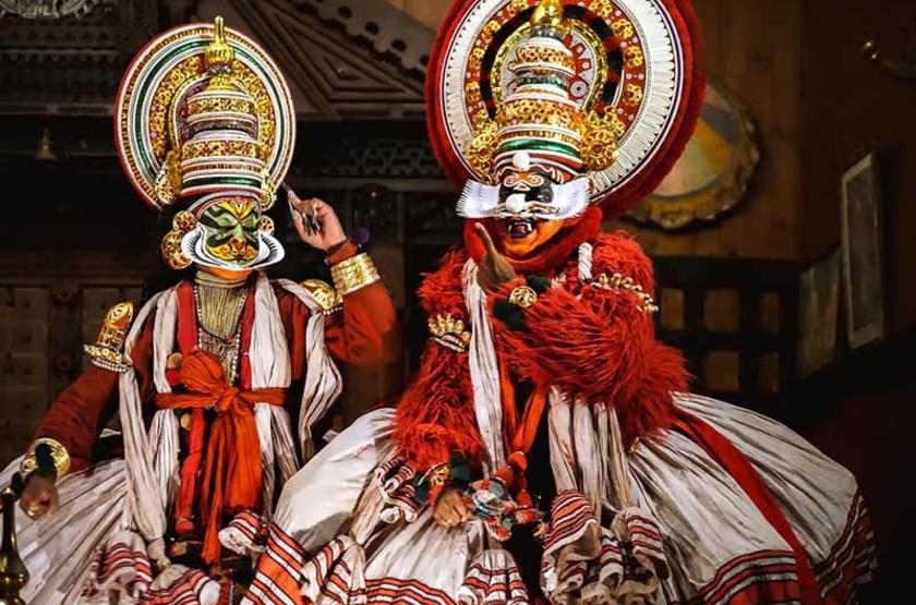 Kathakali dances à Cochin, Kerala, Inde du sud