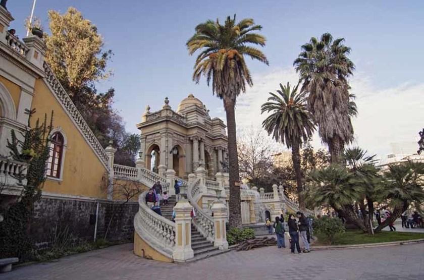 Entrée de la Colline Santa Lucia, Santiago, Chili