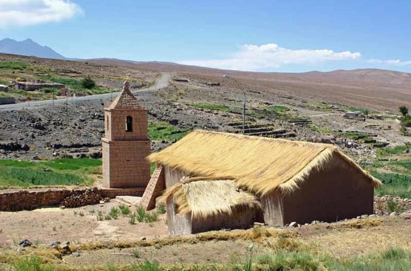 Eglise dans le désert d'Atacama, Chili