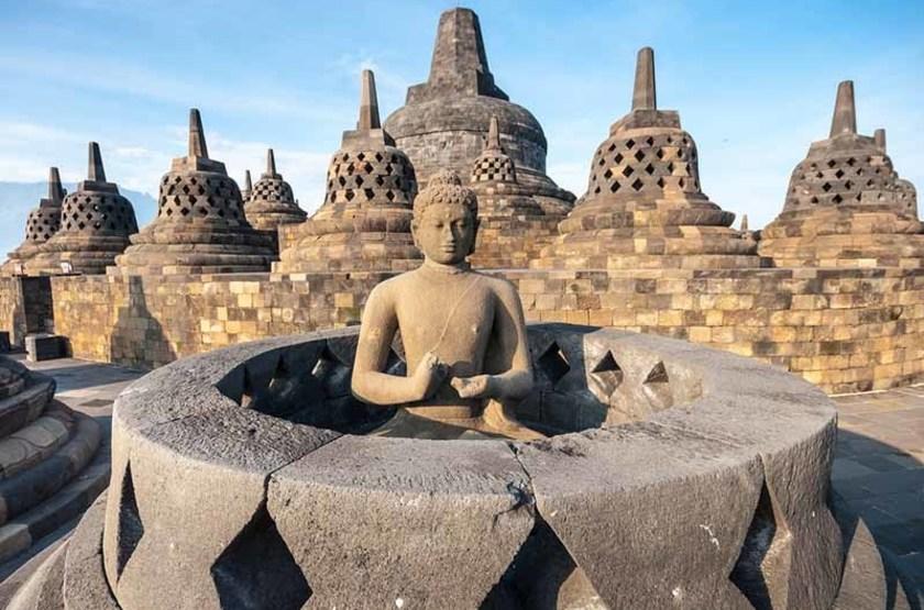 Temple Borobudur, Yogjakarta, Indonésie