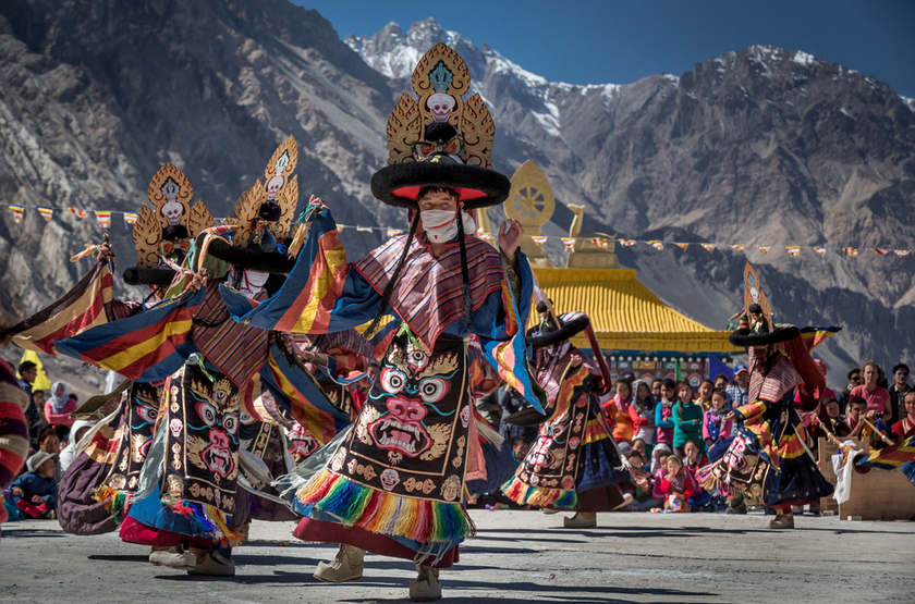 Monks, vallée de Nubra, Ladakh, Inde