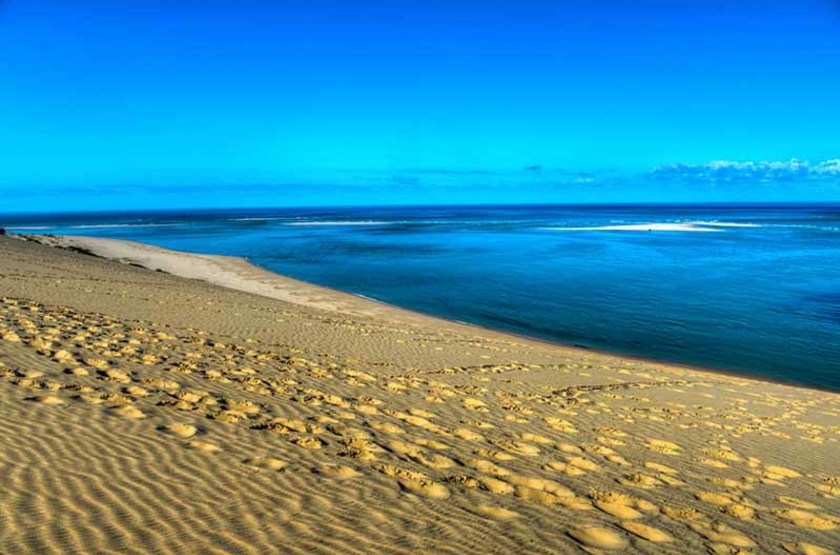 Dunes de sable, îles Bazaruto, Mozambique
