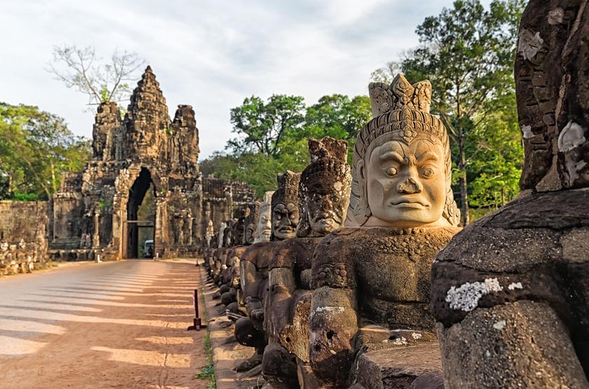 entrée de Angkor Thom, Camodge