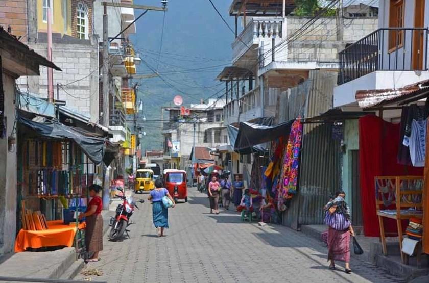 Rue de Santiago de Atitlan, Guatemala
