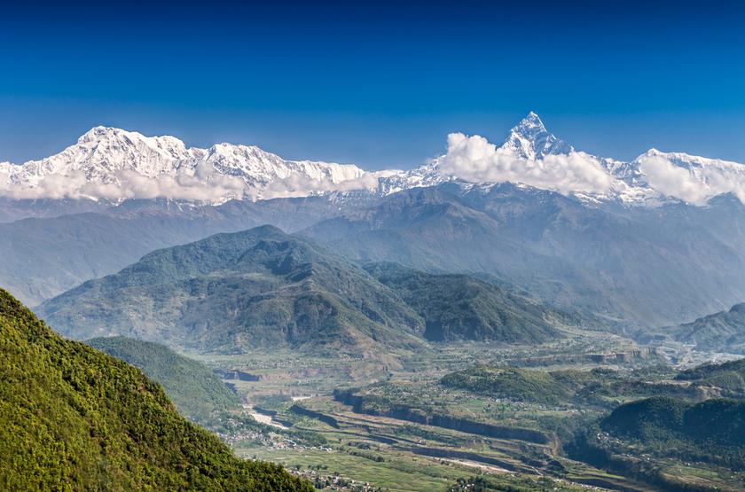 Montagne Machhapuchhre, Pokara, Népal